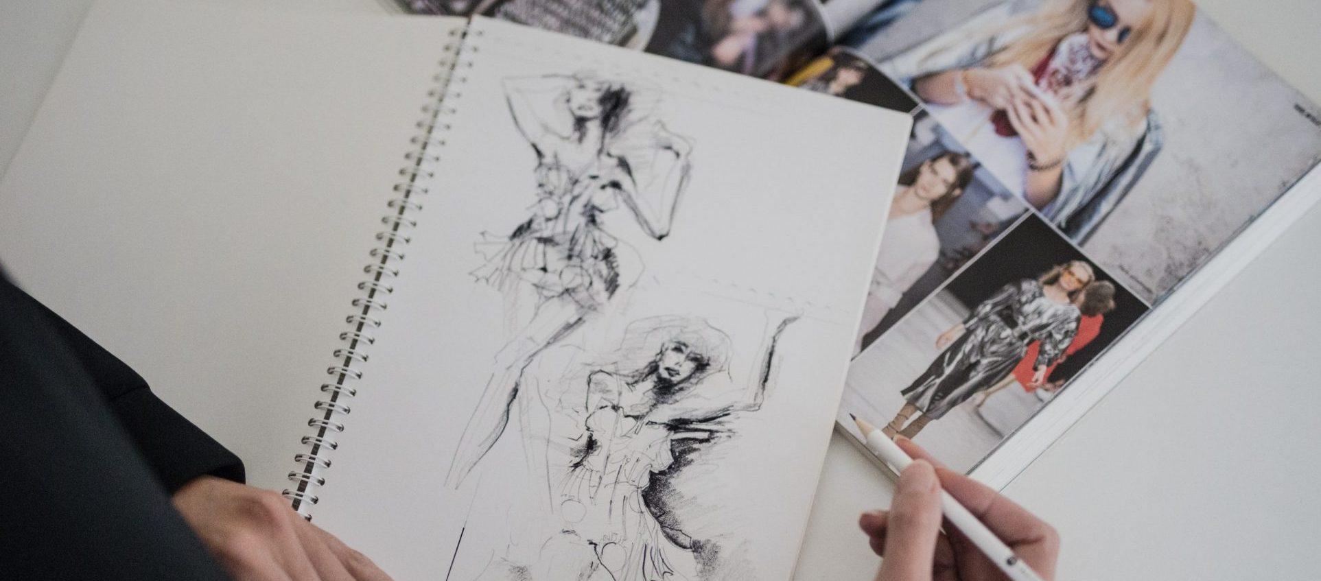 modni kresba bez textu